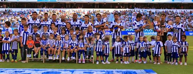Once inicial del Deportivo ante el Getafe