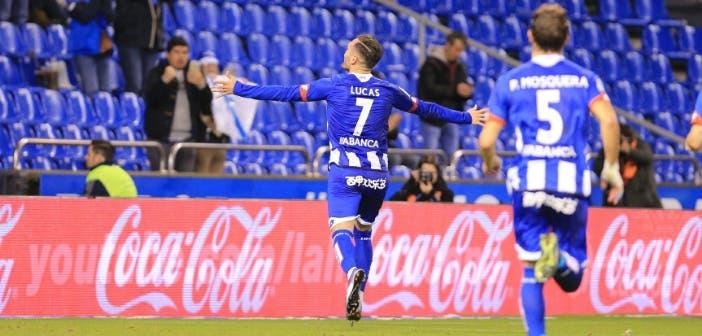 Lucas celebración gol Deportivo Eibar