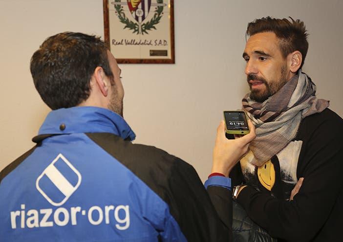 Borja Fernández nos atiende en el interior del estadio de Zorrilla.