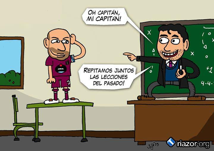Viñeta de Pepe Mansilla en el regreso de Víctor al Deportivo.