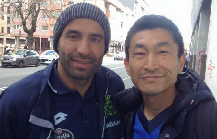 A los alrededores de Riazor, Hiro se encontró a Manuel Pablo