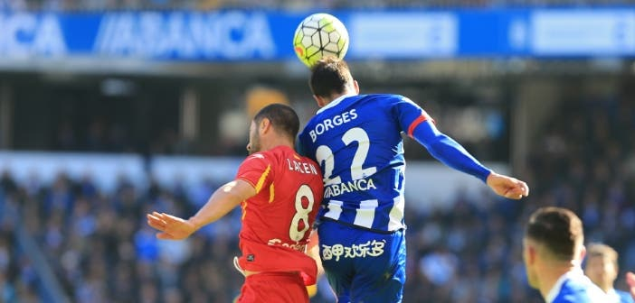 Borges en un partido entre Deportivo y Getafe