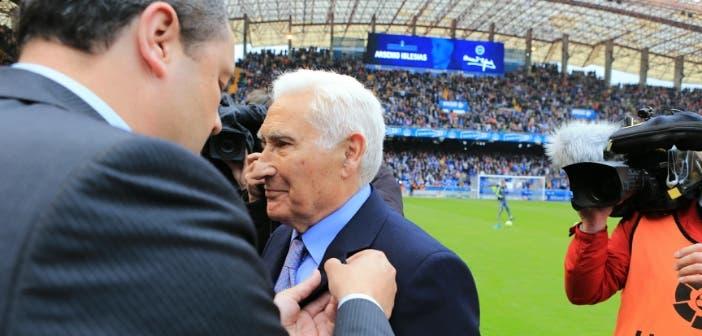 Arsenio homenaje Tino 4 Deportivo-Real Madrid