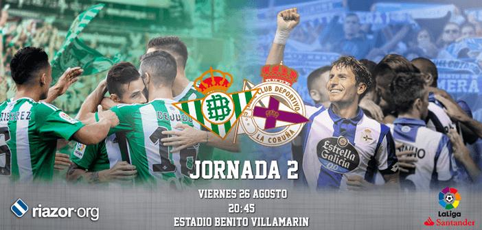 Jornada 2 Liga Santander Real Betis Deportivo de La Coruña
