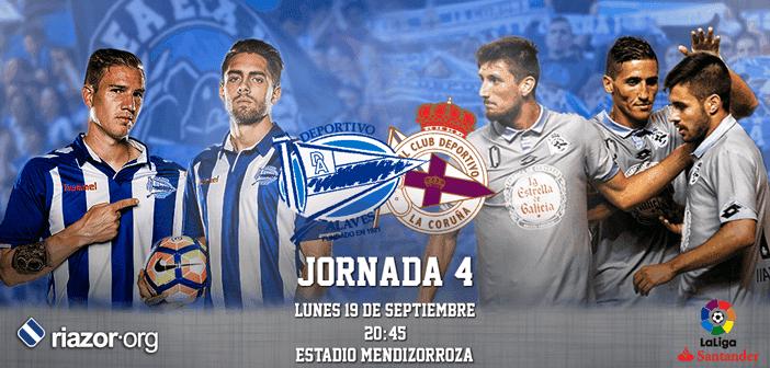 Jornada 4 Liga Santander Alavés Deportivo de La Coruña