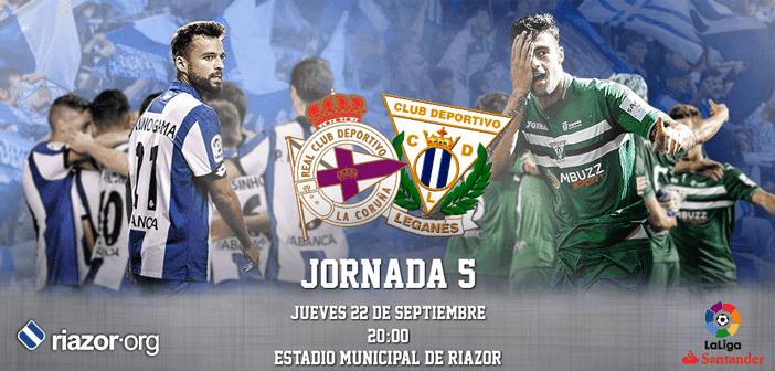 Jornada 5 Liga Santander Deportivo de La Coruña Leganés