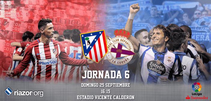 Jornada 6 Liga Santander Atlético de Madrid Deportivo de La Coruña