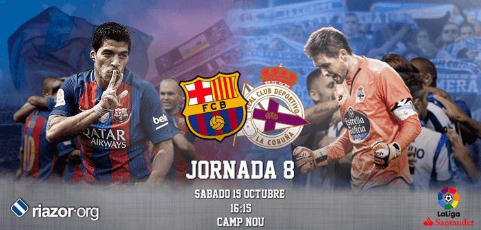Jornada 8 Liga Santander FC Barcelona Deportivo de La Coruña