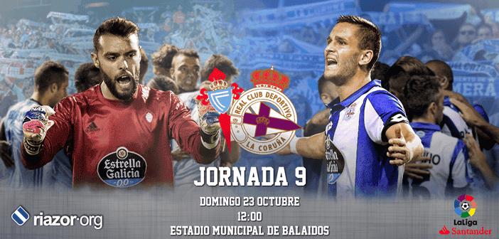 Jornada 9 Liga Santander Celta de Vigo Deportivo de La Coruña