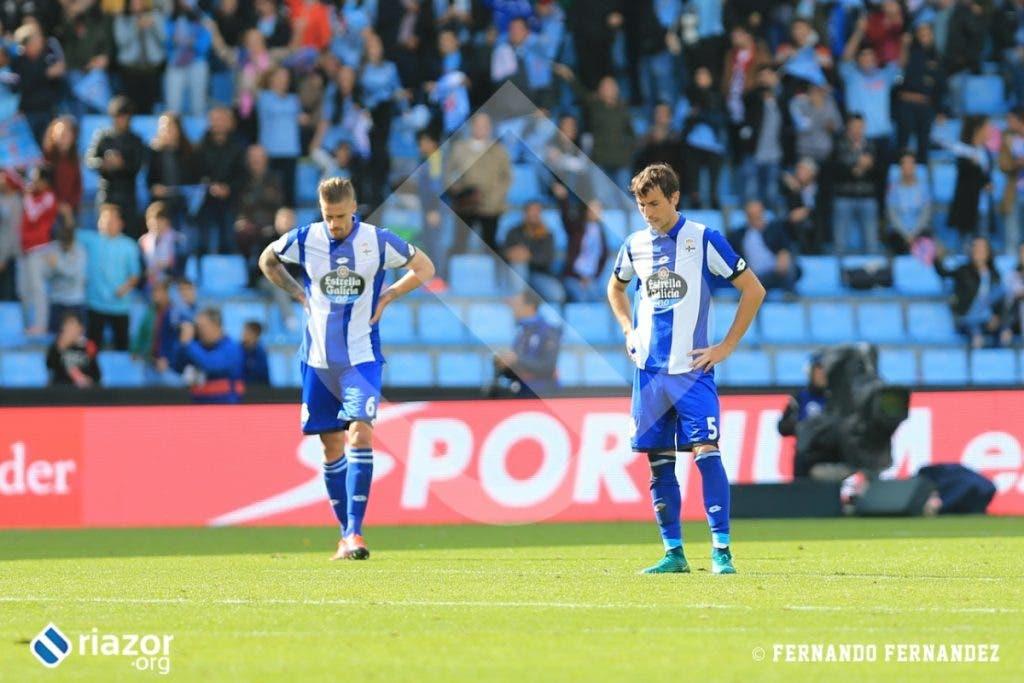 El Deportivo tuvo que remar contracorriente después del tanto de Hugo Mallo en la primera mitad.
