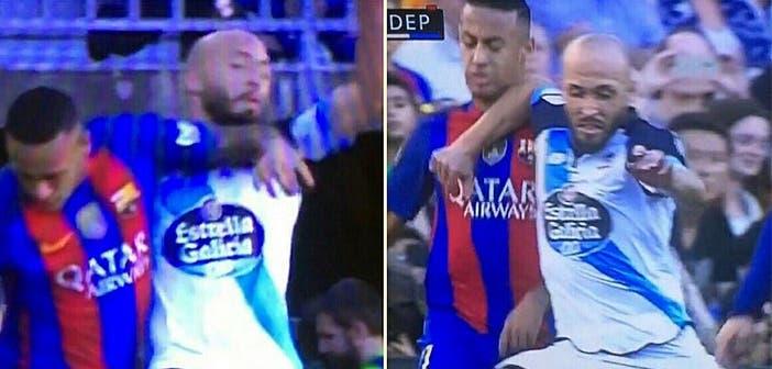 Neymar y Laure protagonizaron dos acciones muy parecidas castigadas de diferente manera.