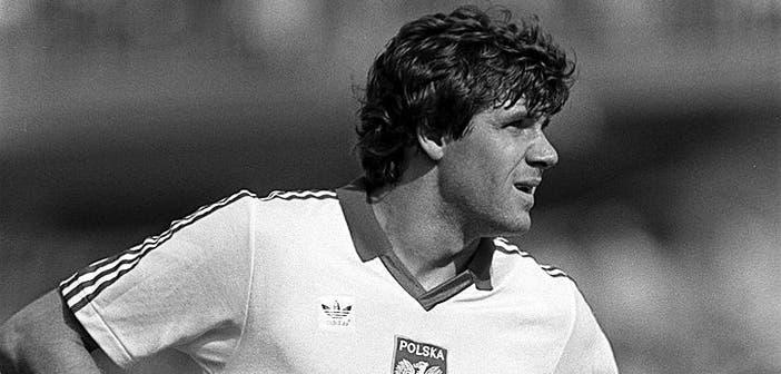 Włodzimierz Smolarek durante un partido do Mundial'82 en Riazor. Foto: GettyImages