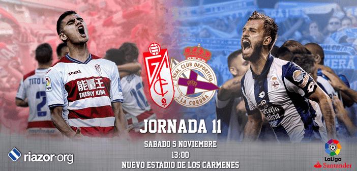 Jornada 11 Liga Santander Granada CF Deportivo de La Coruña