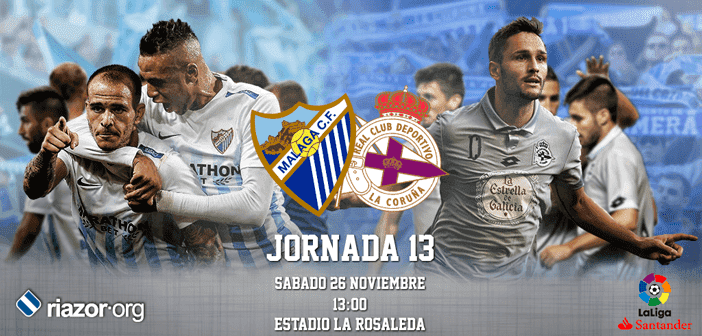 Jornada 13 Liga BBVA Málaga CF Deportivo de La Coruña
