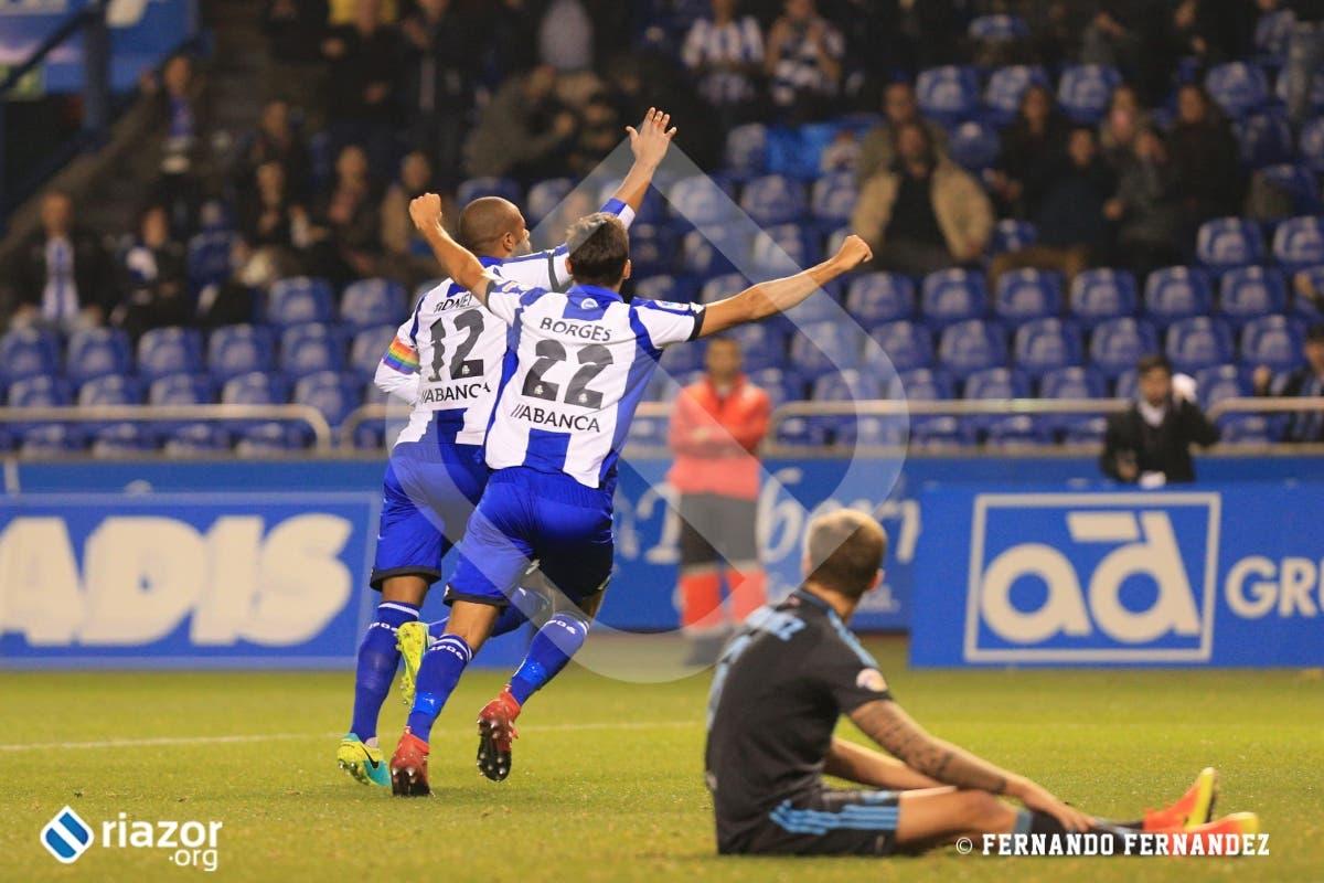 Sidnei marcó su primer gol como jugador del Deportivo.