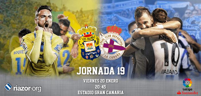 Jornada 19 Liga Santander UD Las Palmas Deportivo de La Coruña
