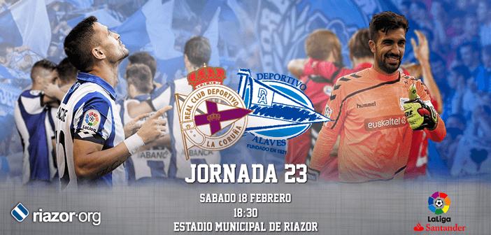 Jornada 23 Liga Santander Deportivo de La Coruña Deportivo Alavés