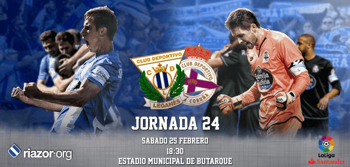 Jornada 24 Liga Santander Leganés Deportivo de La Coruña