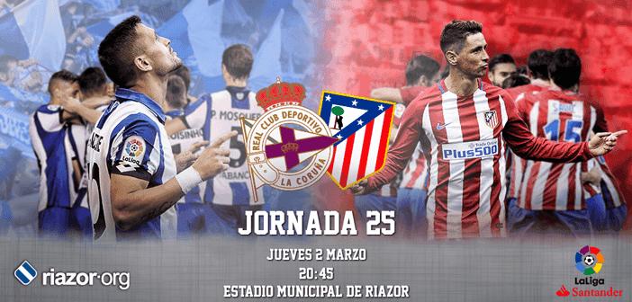 Jornada 25 Liga Santander Deportivo de La Coruña Atlético de Madrid
