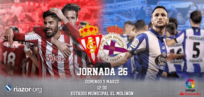 Jornada 26 Liga Santander Sporting de Gijón Deportivo de La Coruña