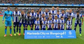 Foto once inicial Deportivo vs Barcelona