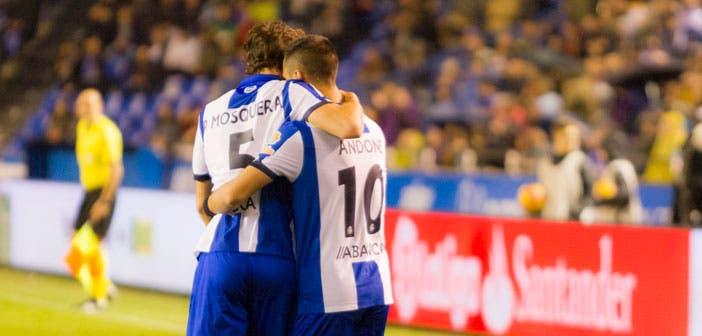 Florin Andone y Pedro Mosquera - Deportivo vs Atlético de Madrid