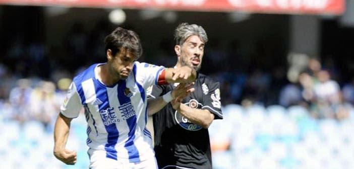 Real Sociedad vs Deportivo: Luisinho y Xabi Prieto