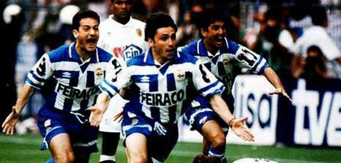 Alfredo Santaelena en la Copa del Rey Deportivo vs Valenciadel 95