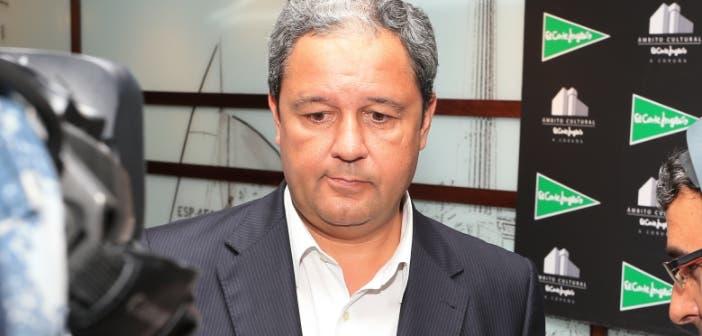 Tino Fernández, presidente del Deportivo durante presentación Trofeo Manolo Martín