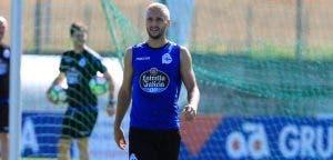Florin Andone teñido de rubio entrenamiento del Deportivo Coruña del 28 de julio