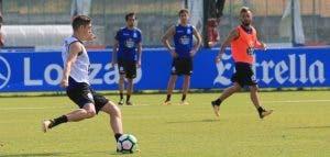 Fede Valverde durante entrenamiento del Deportivo el 18 de julio