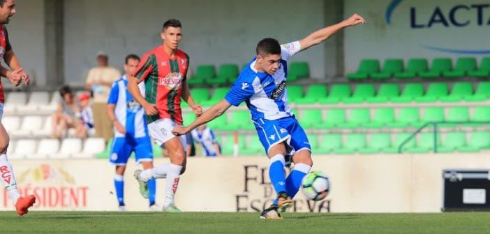 Fede Valverde en su debut con el Deportivo