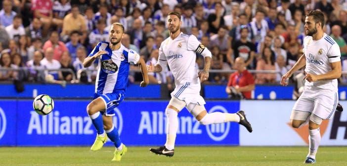 Florin Andone y Sergio Ramos