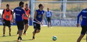 Pedro Mosquera entrenamiento Deportivo Coruña 22 de agosto 2017