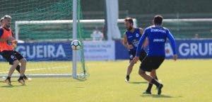 Emre Çolak entrenamiento Deportivo Coruña 22 de agosto 2017