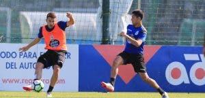 Gerard Valentín y Bicho: entrenamiento Deportivo Coruña 22 de agosto 2017