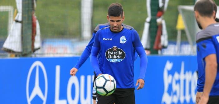 Juanfran entrenamiento Deportivo 24 de agosto 2017