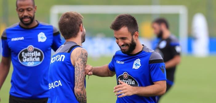 Fede Cartabia y Emre Çolak entrenamiento Deportivo 24 de agosto 2017