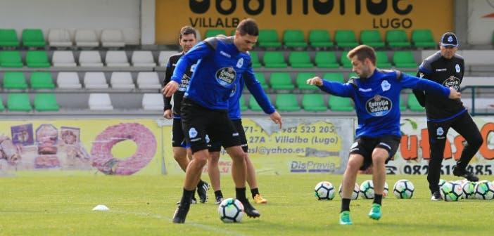 Schär con Fede Valverde en entrenamiento Vilalba del 8 de agosto 2017