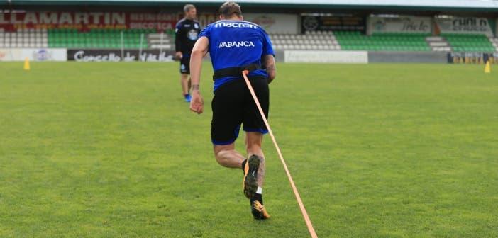 Albentosa ejercicios de fuerza en entrenamiento Vilalba del 8 de agosto 2017