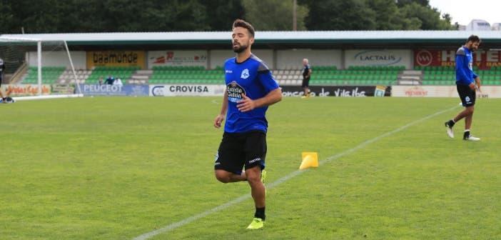 Bruno Gama haciendo carrera en entrenamiento Vilalba del 8 de agosto 2017