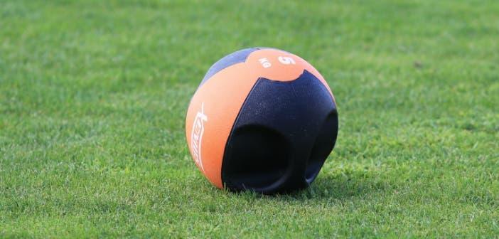 Imagen recurso balón medicinal en entrenamiento Vilalba del 8 de agosto 2017