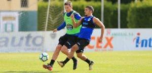 Schär y Bakkali entrenamiento en Vilalba el 9 de agosto