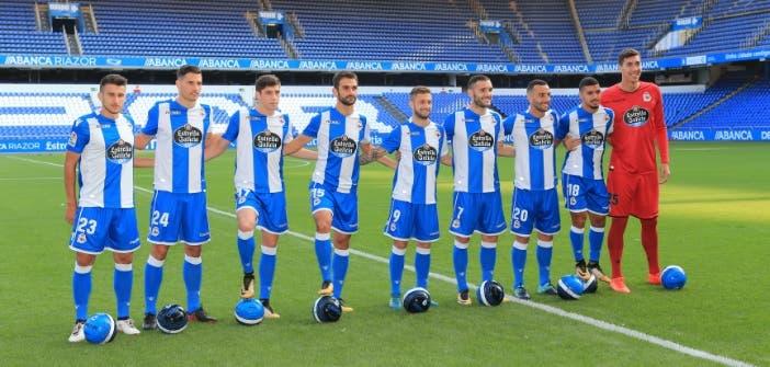 Foto presentación fichajes Deportivo 17-18