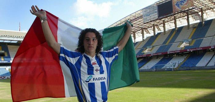 Andrés Guardado, en su presentación como jugador del Deportivo