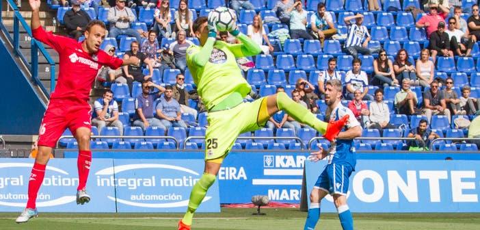 Pantilimon recoge un balón en el Deportivo - Getafe