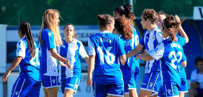 Deportivo Femenino - Sárdoma: celebración de gol