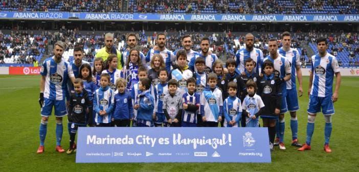 Once inicial del Deportivo ante el Levante