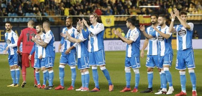 Once inicial del Deportivo ante el Villarreal