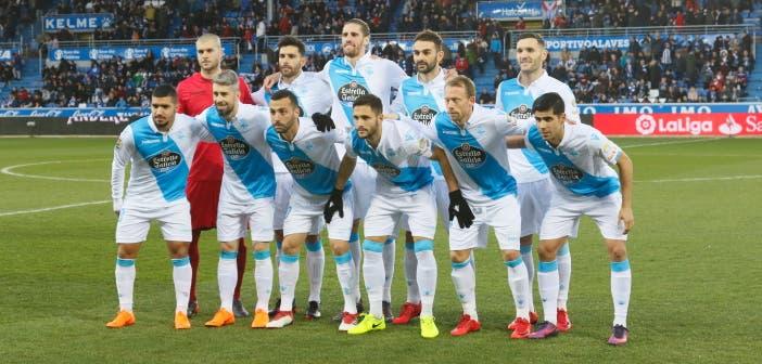 Once inicial del Deportivo ante el Alavés